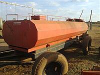 Carreta agrícola 4 pneus tanque p/águas pipa chassi caminhão f 4000