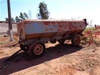 Carreta bazuca graneleiro 4 pneus rodas tubo descarga trator massey ford new hol