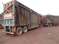 Carreta canavieira reboque cana picada  p/soja milho fazenda colheita transporte