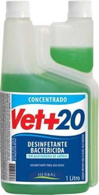 Herbalvet+20 Desinfetante bactericida com Quaternario de Amonia. Faz 600 litros