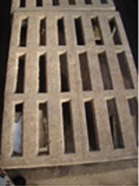 Grelha de Concreto para Bancadas - 1m x 40cm