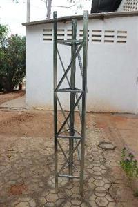 Torre Estaiada em Chapa Galvanizada de 2mm -