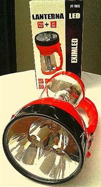 Vendo lanterna de led com lampião e bateria bi-volt recarregavel
