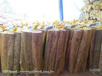Lenha de eucalipto padronizada e ensacada Jatobrasa