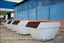 Caçambas Estacionarias de 3,4,5,7m³ e medidas especiais