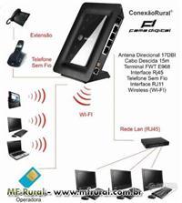 Conexão Rural - Internet 3G e Celular Sem Fio em Um só Equipamento