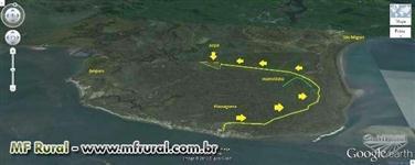 Terreno 48 ha na baía de paranaguá