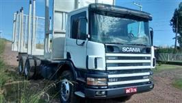 scania P124 420 6x4, ano 2004, com carroceria transtora