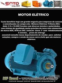MOTOR ELETRICO WEG 7.5 CV 2 POLOS 4 TENSOES A PROVA DE EXPLOSAO NOVO