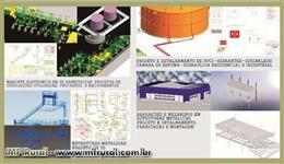 Projetos de barracões e estruturas metalicas