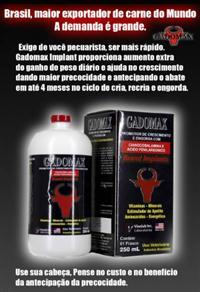 Gadomax Brand Implant - Promotor de Crescimento e Engorda de Gados