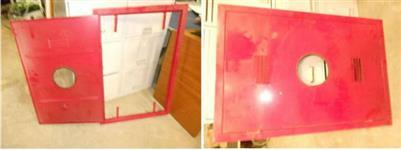 Portas para caixa de abrigo de incêndio