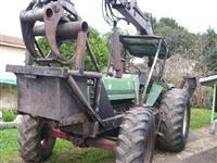 TRATOR AGRALE 4130 4X4 COM CARREGADOR FLORESTAL IMPLEMATER  COM CARRETA