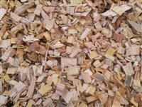Cavaco de madeira de eucalipto 100% puro, alta densidade, 375kg/m3., biomassa