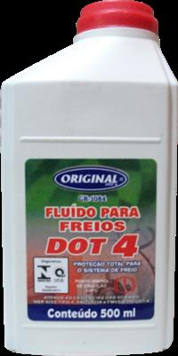 FLUIDO DE FREIO DOT4  500ml  (TRATORES,CAMINHOES,PICK-UPS )