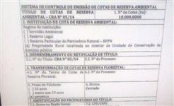 CRA - COTA DE RESERVA AMBIENTAL / BIOMA CERRADO
