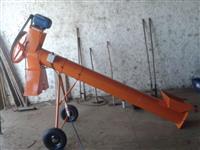 Rosca transportadora, chupim, 3 metros ,8 polegadas c. motor elétrico 3 cv trif