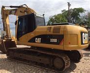 Escavadeira Cat, modelo 320 DL, ano 2010, pouco rodada