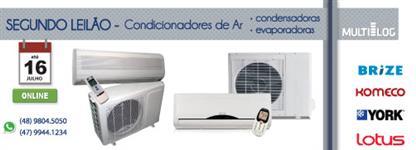 LEILÃO PÚBLICO - CONDICIONADORES DE AR (Evaporadora e Condensadora)