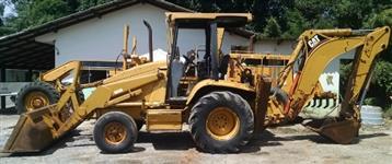 retroescavadeira, marca Caterpillar, modelo 416C, 4x2, ano 1997, cor amarela,