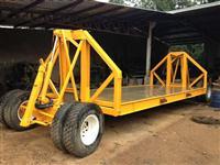Carreta hidraulica para transporte de plantadeiras