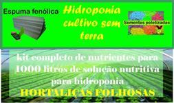 Kit Completo Nutrientes Para 1000 Litros Solução Hidroponia para hortaliças