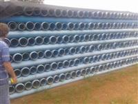 """TUBO EM PVC DEFOFO JE 6"""" 150 mm x 6m ponta x bolsa classe 60 rigidez 2.000 N/m"""