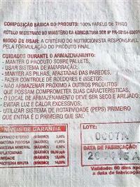 FARELO DE TRIGO SACOS DE REEF 30 KG