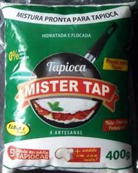 Tapioca Pronta Mister Tap 24x400g / Unid R$ 2,50 - Cx R$ 60,00
