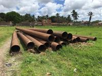 15 tubos de ferro fundido, 12 metros de comprimento