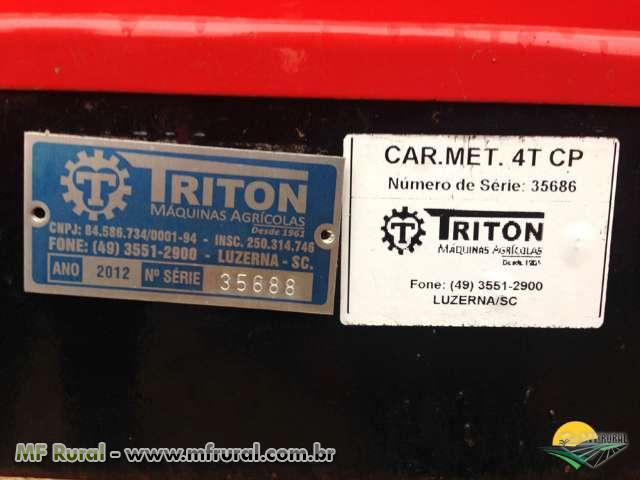 Carreta de Silagem Metalica 4 T eixo Tanden - TRITON - Nova