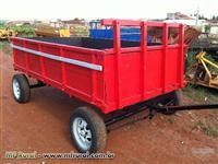 Carreta agrícola de 2 eixos para 3 toneladas