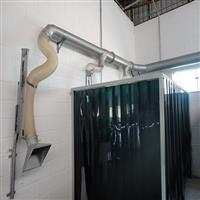 Braço extrator articulado para gases e pós finos