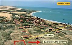 Quadra com 28 lotes a 500 metros da Praia do Marco (RN)