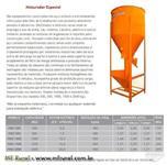Misturador para industrializar cimento cola, argamassa, rejunte e reciclagem
