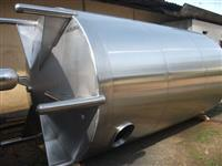 Tanque vertical inox 15.000 litros fundo cônico, escoamento total novo!!
