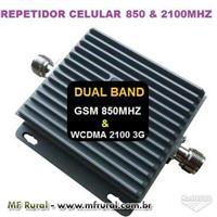 Repetidor de Celular Phonetone Dual Band Gsm 850 / 2100 3g Wcdma