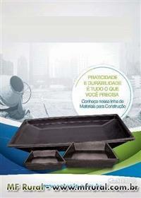Caixa para Massa, Masseira p/Pedreiro, Reboco, Concreto, Construção, Construtora