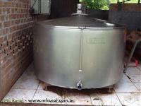 Resfriador 1500l + contenção galvanizada