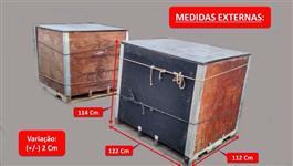 Bins Bim Caixotes 1000L/Kg Com Paletes Embalagens Polpas Sucos