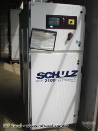Compressor Industrial Eletrônico Schulz, mod SRP 2100, 100 HP, com Secador