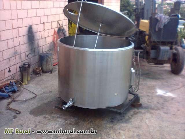 Tanque resfriador de leite a granel usado, capacidade 1000 litros