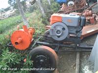 Motor Yammer NB18 acoplado com bomba para irrigação e carreta 2 rodas.