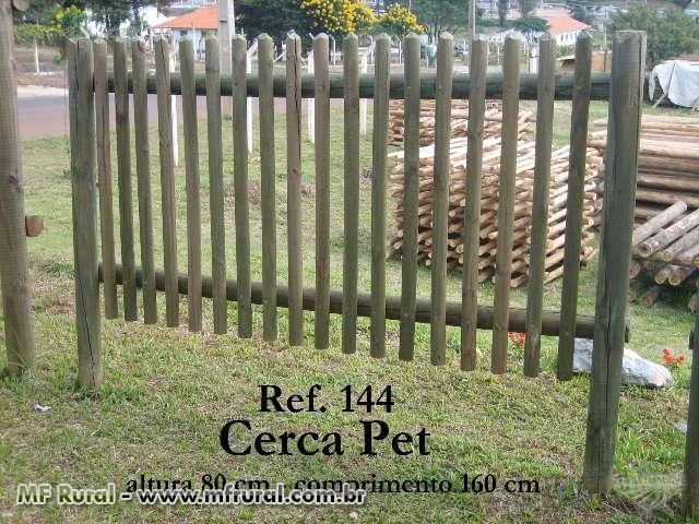 Cerca para Jardinagem de Madeira Tratada com 10 anos de garantia (Cód