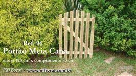 Portão para Jardim, de Madeira Tratada com 10 anos de garantia