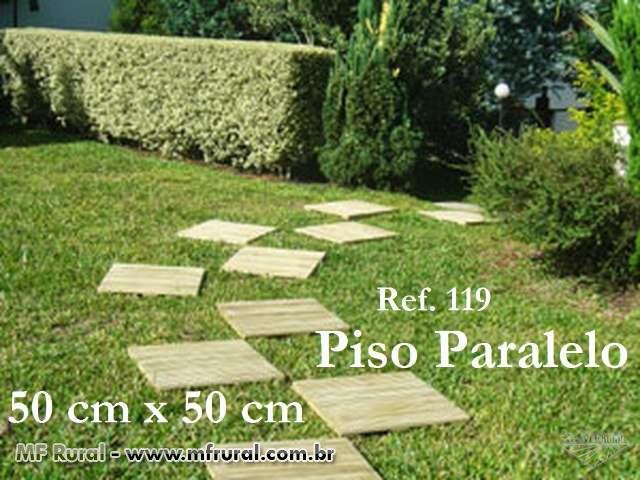 jardim deck de madeira:Pisos Deck para Jardim, de Madeira Tratada com 10 anos de garantia