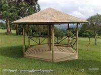 Galpão Pré-fabricado em madeira tratada - Kit de fácil montagem