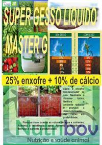 SUPER MASTER G _ GESSO LIQUIDO DE ALTA TECNOLOGIA _  25% ENXOFRE+10%CÁLCIO