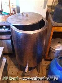 Iogurteira 50L em inox a gas