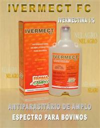 IVERMECTINA 1% IVERMECT FC ANTIPARASITÁRIO DE AMPLO ESPECTRO- CAIXA 06 FRS 500ML